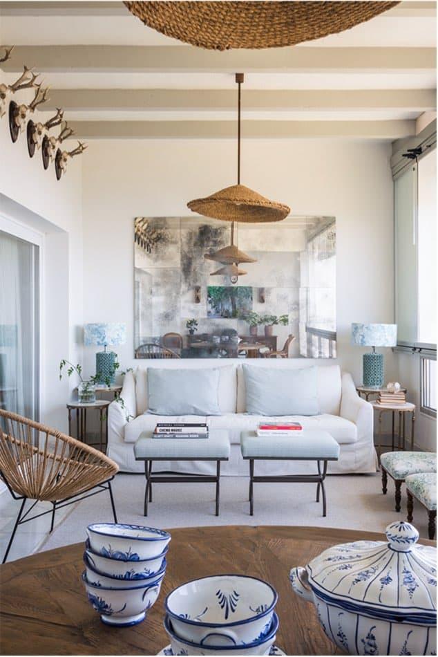 Estudio María Santos Reforma integral y decoración de vivienda mediterránea marbella espejo bonito