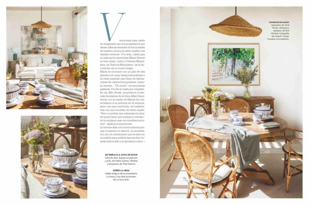 Estudio María Santos Reforma integral y decoración de vivienda minimalista Revista El Mueble Diciembre 2018 La Casa de los espejos