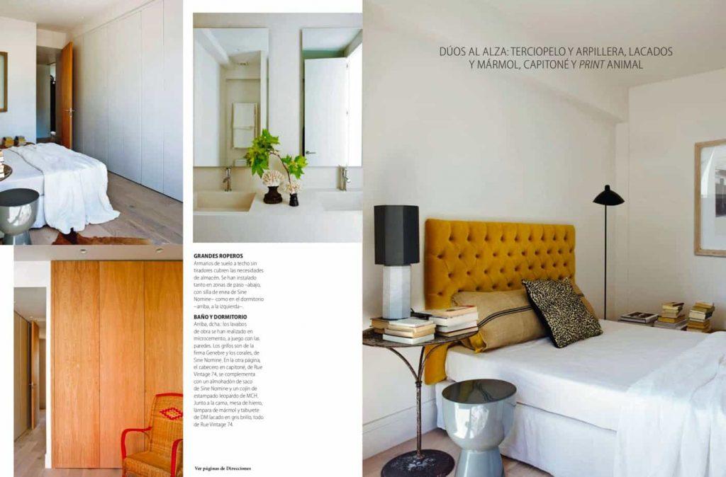 Estudio María Santos Reforma integral y decoración de vivienda minimalista Revista Nuevo Estilo Abril 2018 Viaje por el Espacio