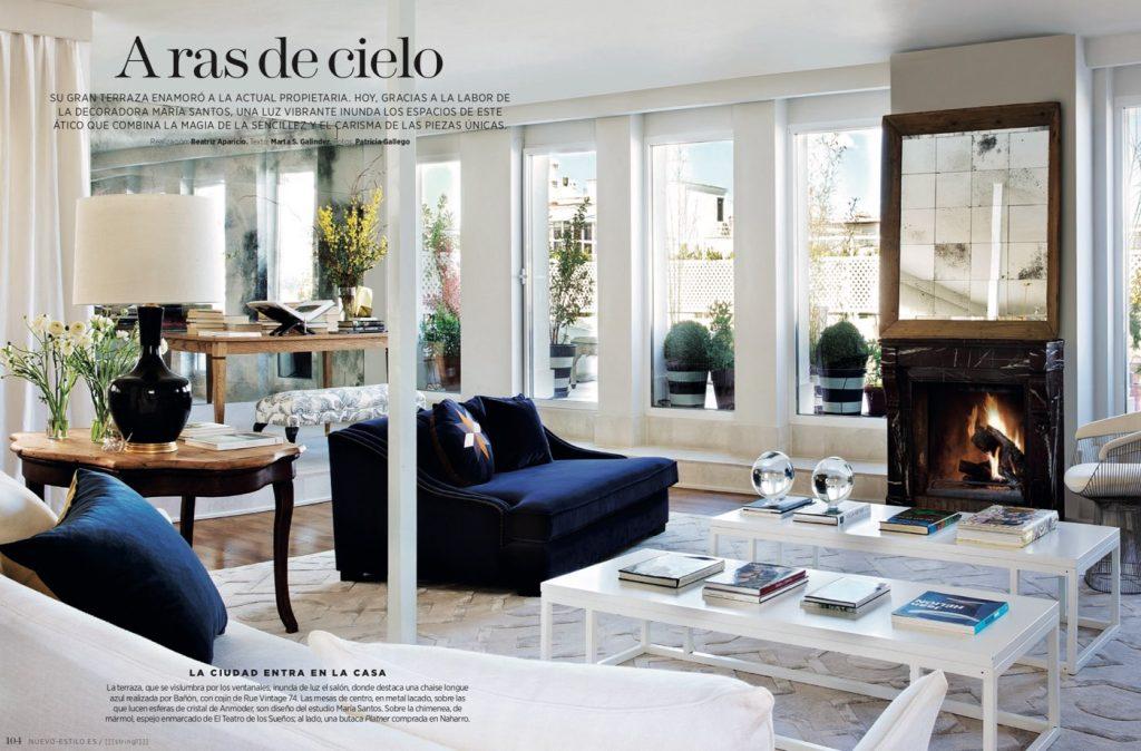 Estudio María Santos Reforma integral y decoración de vivienda minimalista Revista Nuevo Estilo Diciembre 2018 A ras del cielo
