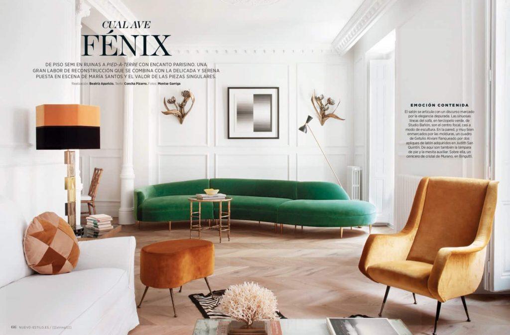 Estudio María Santos Reforma integral y decoración de vivienda minimalista Revista Nuevo Estilo