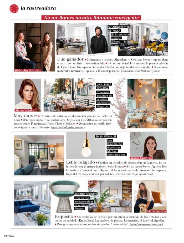 Estudio María Santos Reforma integral y decoración de vivienda minimalista Revista Telva Casa Mayo 2018